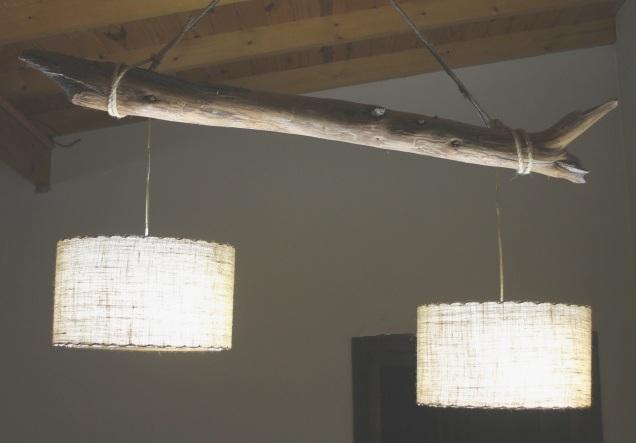 lampara con tronco