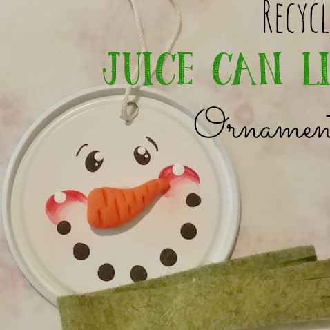 Recycled Juice Can Lid Ornaments