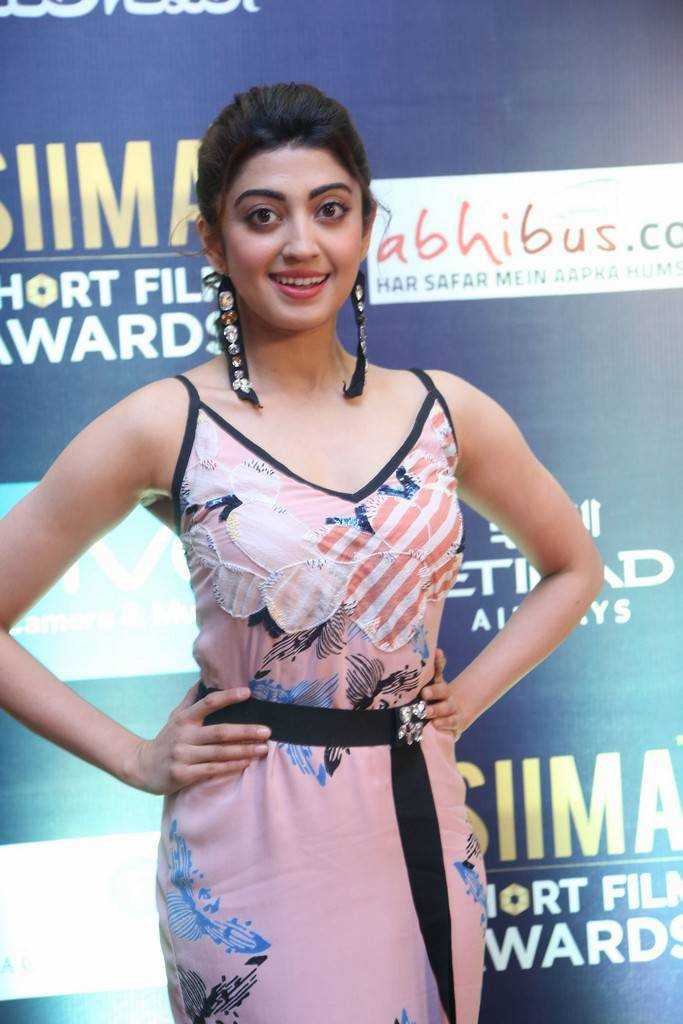 Indian Girl Pranitha Stills At SIIMA Short Film Awards 2017