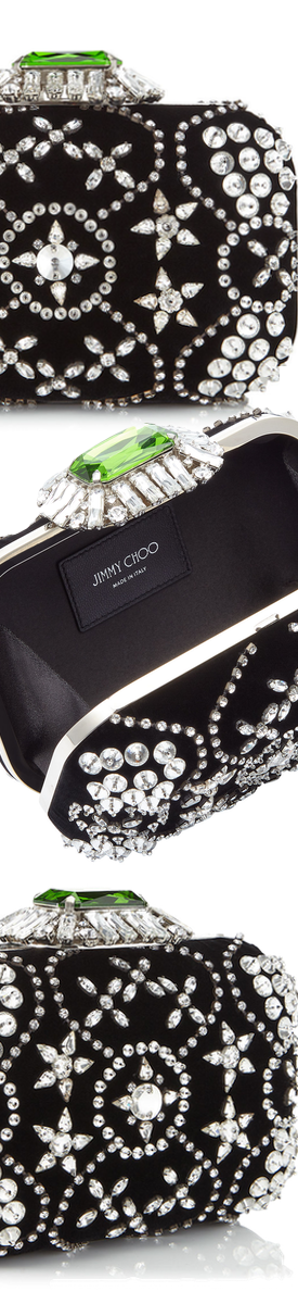 JIMMY CHOO CLOUD CLUTCH IN BLACK