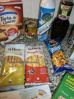 Disfrutabox Marzo 2016: tarta de queso, Alba Horneados, Pedro Luis, Granini, Sport Life