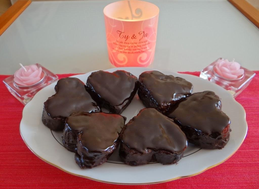 Piernikowe serduszka w czekoladzie
