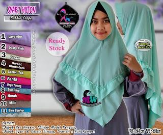 Jilbab Syar'i Model Pinguin Bahan Bubble Crepe