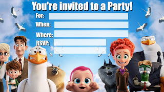 Free Storks Movie Invitations