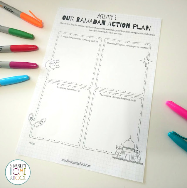 our family ramadan action plan printable