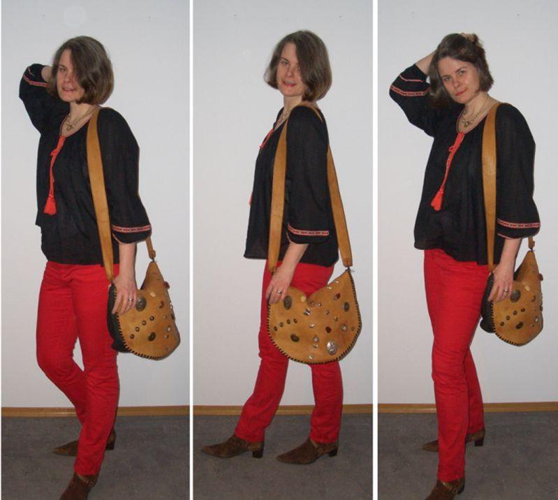 DIY Tasche mit Lederklappe und Conchas Upcycling