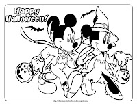 Mickey and friends halloween 2 free disney halloween for Minnie mouse halloween coloring pages