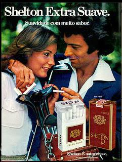 anúncio de cigarros shelton de 1977. 1977.  reclame cigarros anos 70; propaganda anos 70; história decada de 70; reclame anos 70; propaganda cigarros anos 70; Brazil in the 70s; Oswaldo Hernandez;