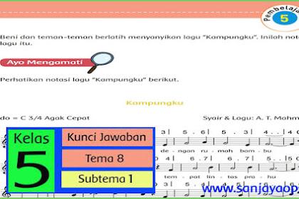 Kunci Jawaban Tematik Kelas 5 Tema 8 Halaman 36, 37, 38, 39, 40, 41