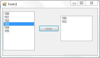 c# move copy selected item from list box to another list box