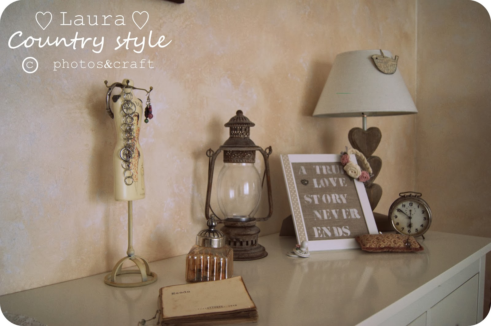 Pittura Verde Shabby Laura Country Style My Home Bedroom