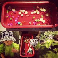sensory water play outside