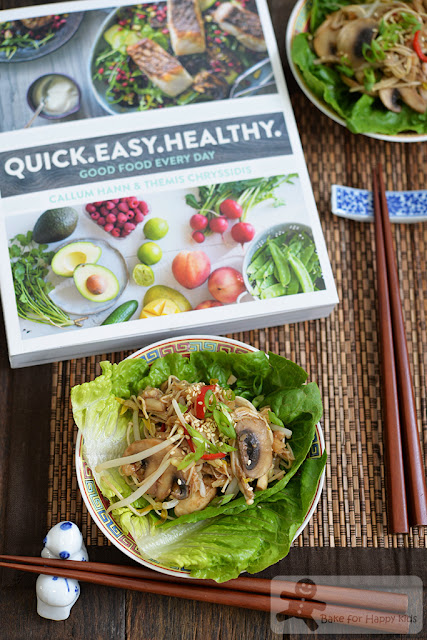 vegetarian mushroom ginger san choy bow