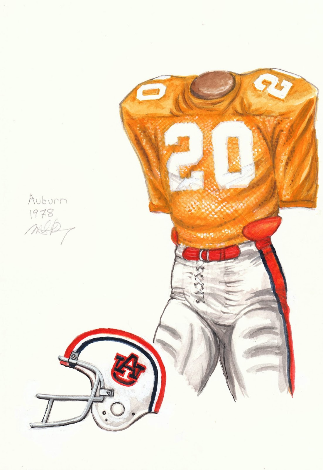 Auburn University Football Uniform And Team History