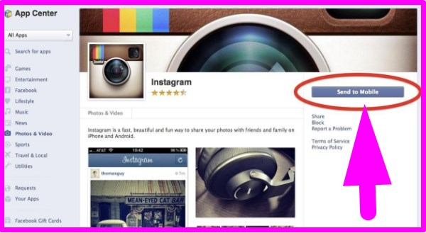 how to connect instagram to facebook using ios
