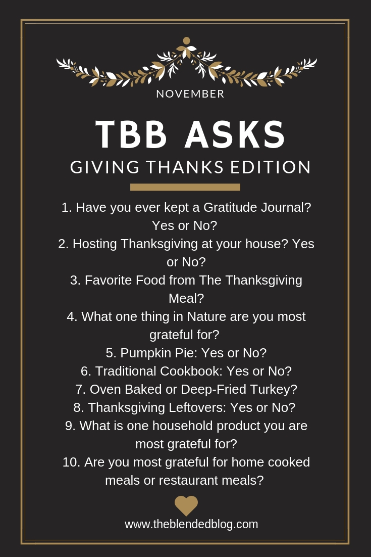 TBB Asks Giving Thanks Edition