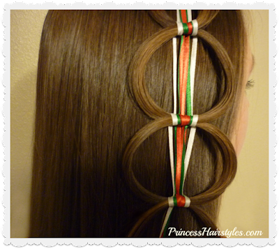 Easy ribbon chain braid hair tutorial