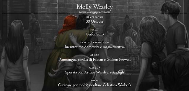 Scheda di Molly Weasley