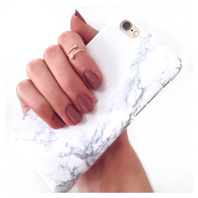marble phone case rose gold midi ring