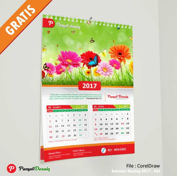 Download Gratis tanggalan dan Desain Kalender Dinding 2017 Lengkap