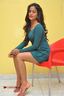 Telugu Actress Prasanthi Stills in Green Short Dress at Swachh Hyderabad Cricket Press Meet  0099.JPG