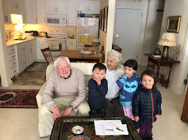Campbell Walker, Hazel Nina, Indy Thomas with the great-grandparents