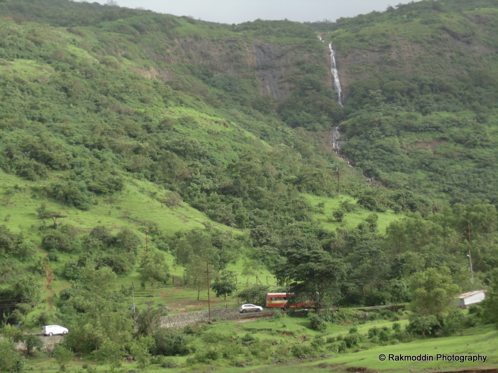 Waterfalls near Lonavala Lake, near Pune, Maharashtra, India