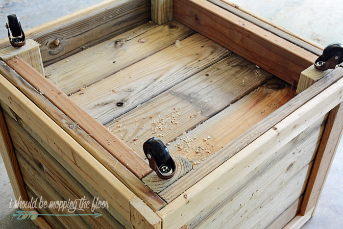 Creating a Rolling Planter Box