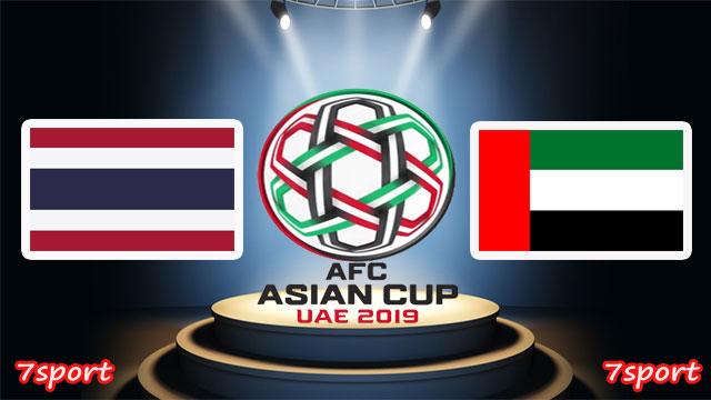 موعدنا مع مباراة الامارات وتايلاند  بتاريخ  14/01/2019 كأس أسيا