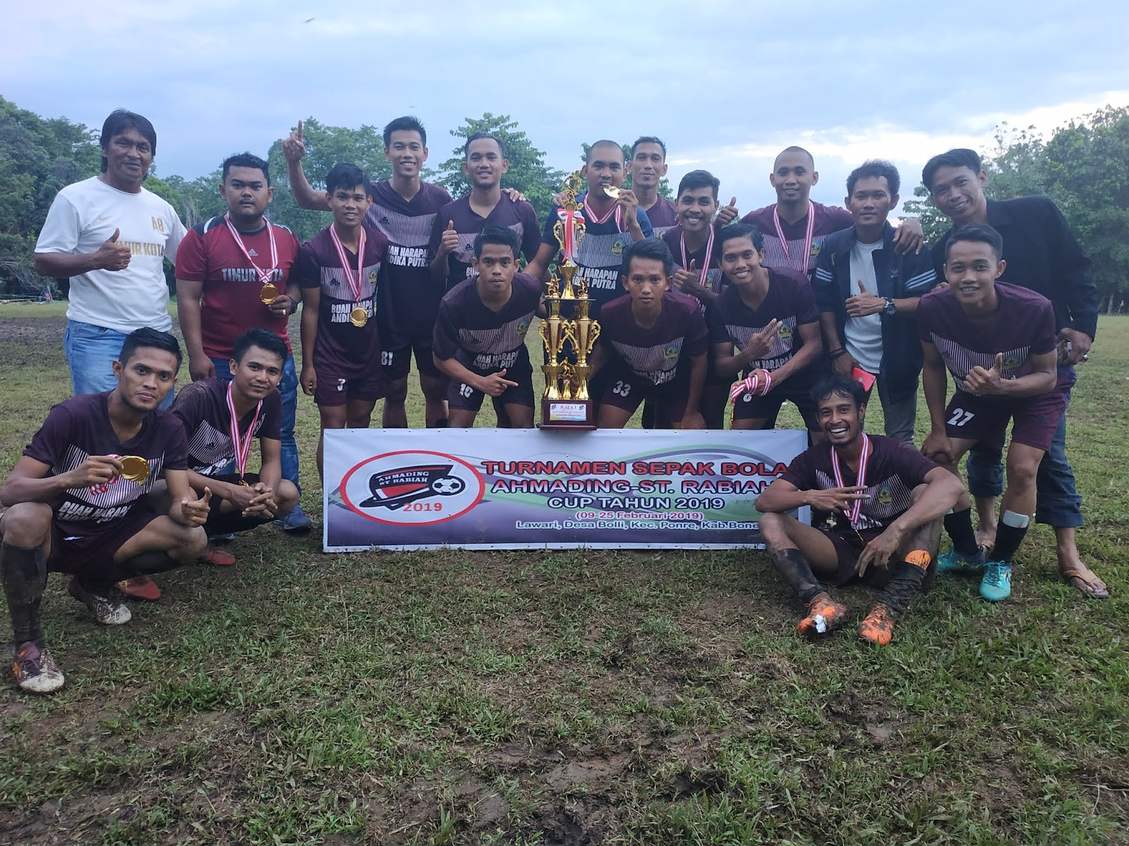 Timur Kota A Berhasil Juara I di Turnamen Sepak Bola Ahmading-St Rabiah Cup 2019