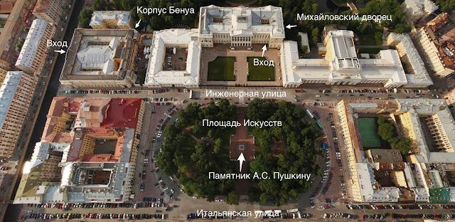 Русский музей вид сверху
