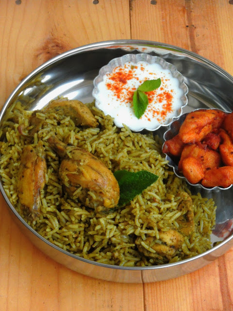 Green chutney Chicken Biryani
