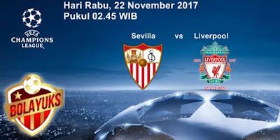 Prediksi Bolayuks: Sevilla vs Liverpool, 22 November 2017