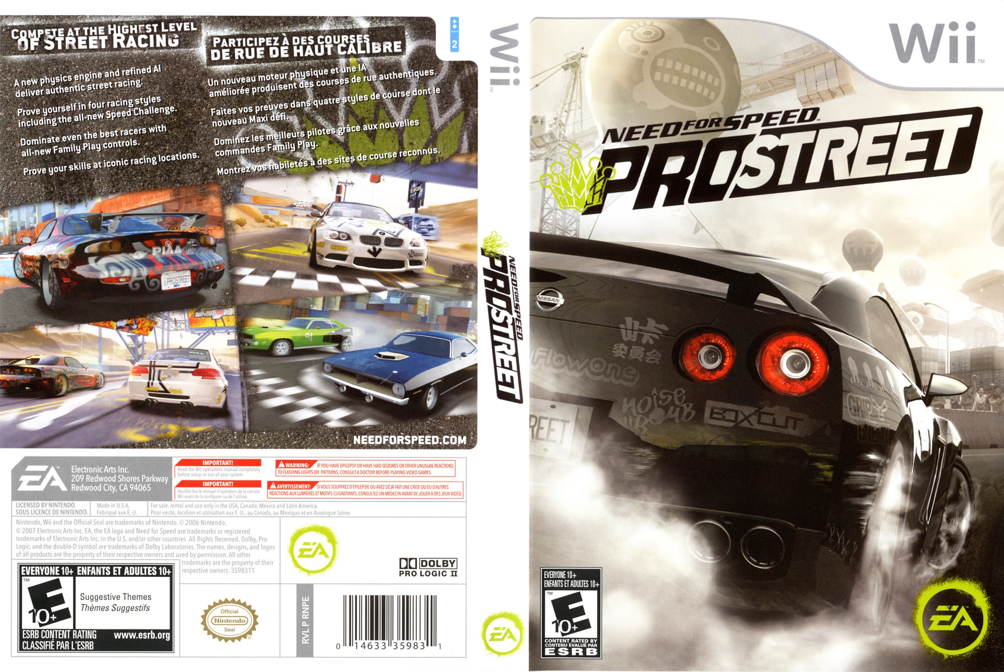 Need For Speed Pro Street Wii All In 1