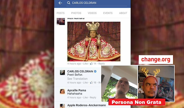 Petition to declare Carlos Celdran as Persona Non Grata in Cebu has started