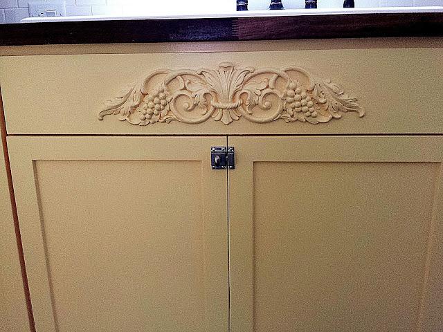 Yellow custom cabinets