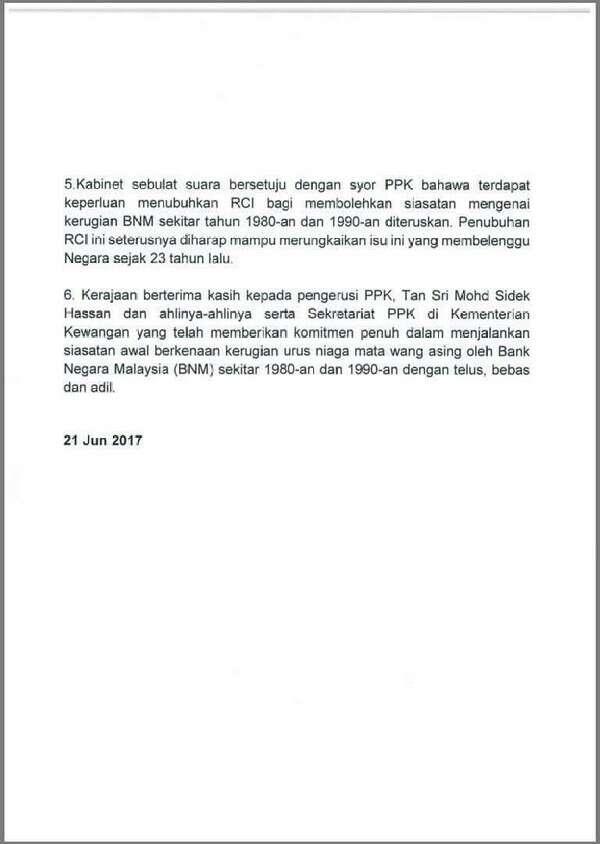 Hasrat Lim Kit Siang Tercapai - Suruhanjaya Diraja ditubuhkan siasat kerugian forex Bank Negara