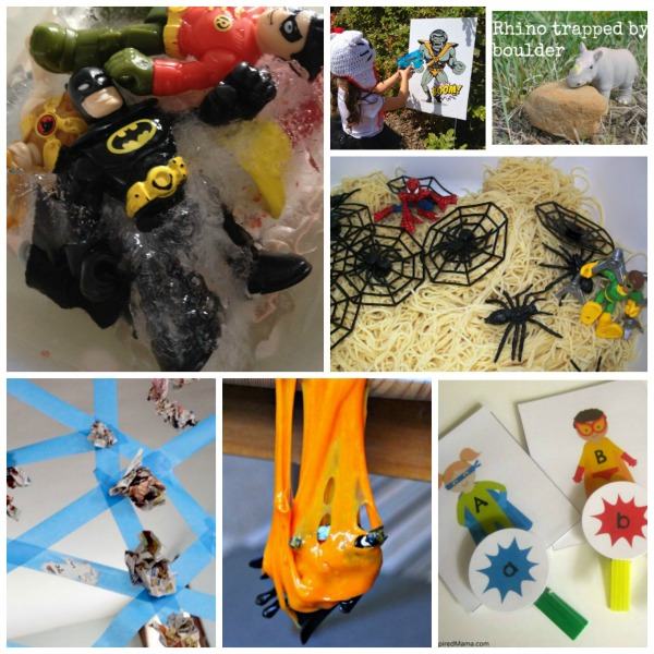 Superhero activity ideas for kids: costumes, activities, crafts, food (spiderman, batman, teenage mutant ninja turtles)