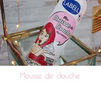 mousse chantilly framboise douche Labell