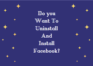 Do you want to uninstall and install fb?