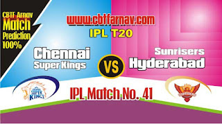 SRH vs CSK IPL 2019 41st Match Prediction Today Who Will Win