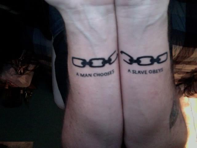Chain Tattoo On Wrist: The Good, The Bad And The Tattooed: Bioshock
