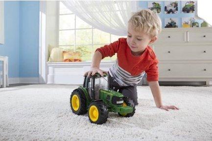 John Deere Big Farm Tractor with Functional Dump Wagon Opening Hood 1:16 Scale L