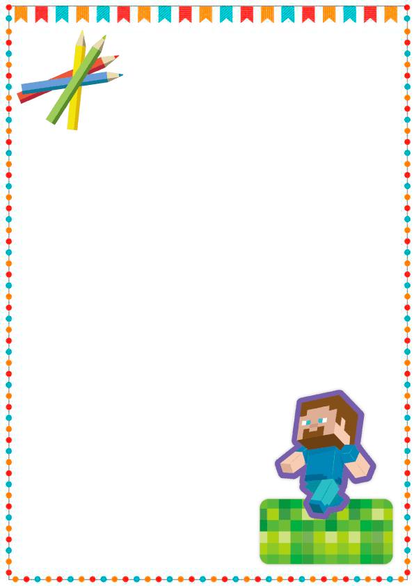 caratulas para cuadernos para niños y niñas de primaria de maincraft 3