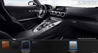 Nội thất Mercedes AMG GT S 2019 màu Đen Leather chỉ Xám 621