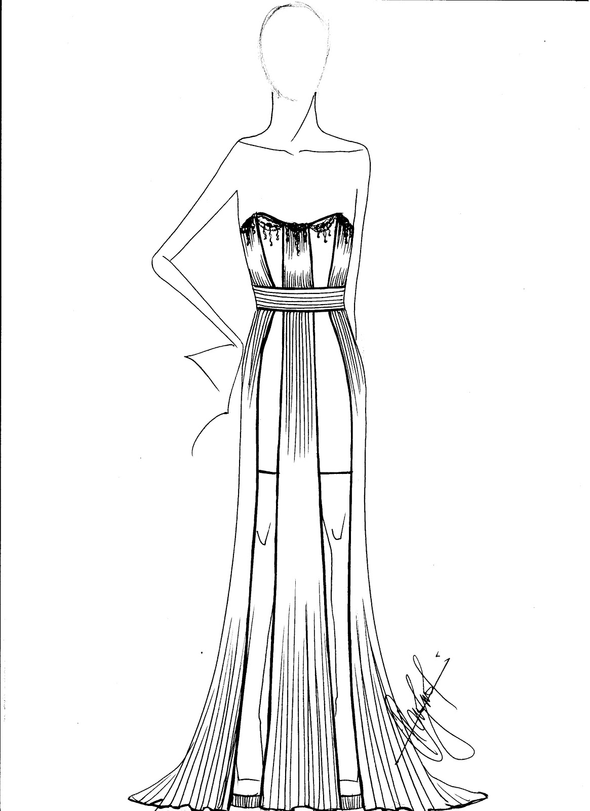 Fashion Sketches Template Cake Ideas and Designs