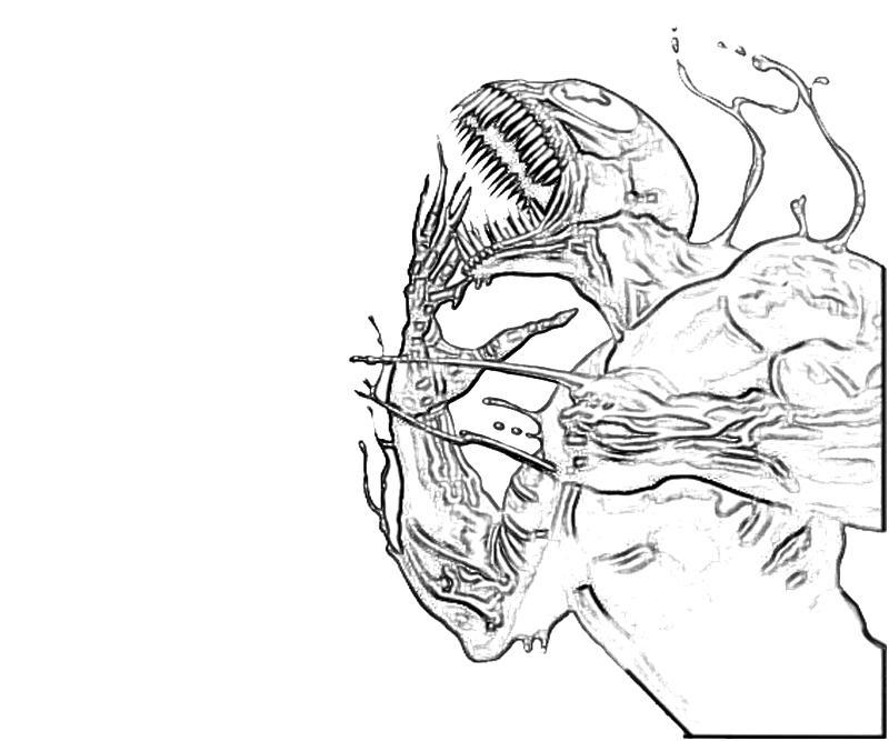 Marvel Coloring Venom Head Coloring Pages