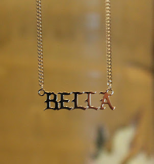 Old English Calligraphy Name Necklace