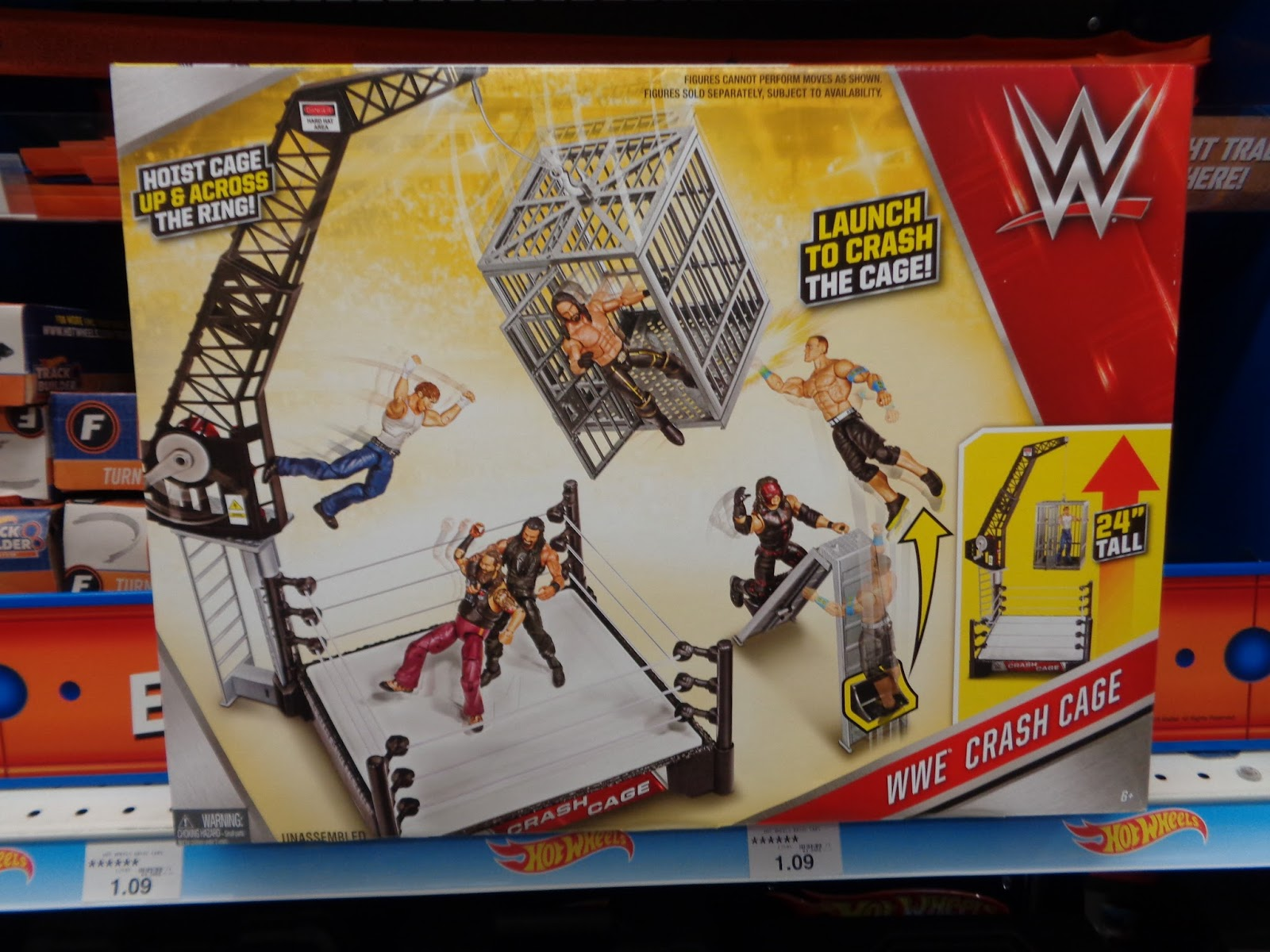 Toys R Us Wwe Rings : J and toys wwe crash cage playset at r us
