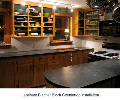 laminate butcher block countertop installation